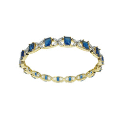 Gold Sapphire Diamondesque Bangle