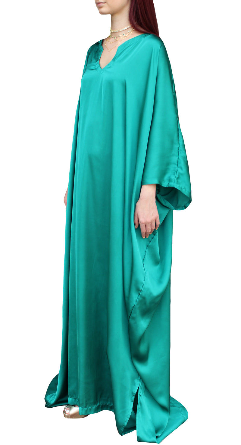 Green Silk Kaftan