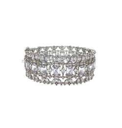 Princess Cut Leaf Bangle
