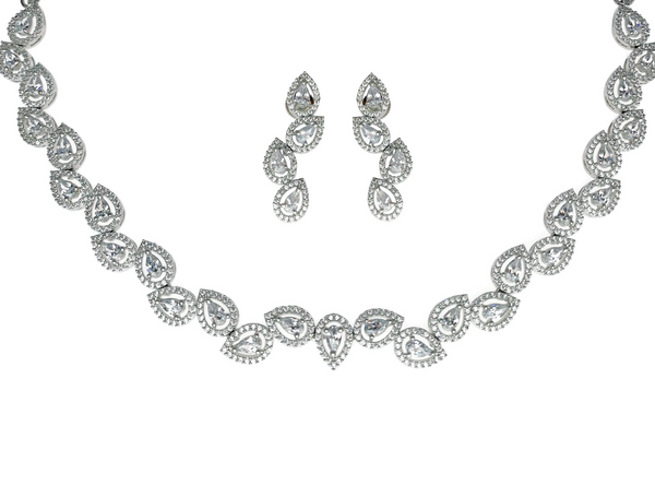 Teardrop Halo Collar Necklace
