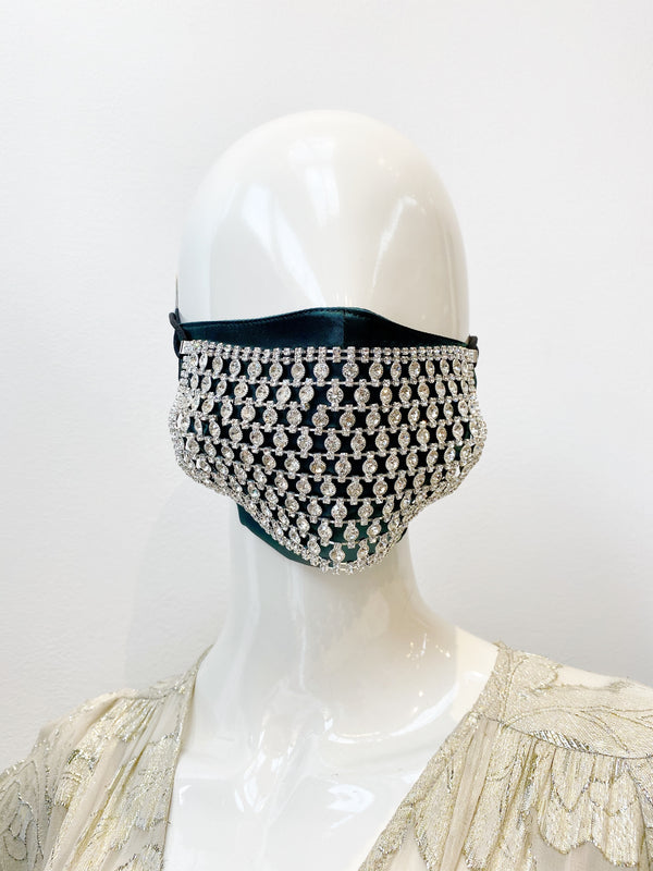 Crystal Studded Jeweled Mask