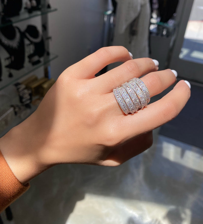 Stacked 3D Cocktail Ring