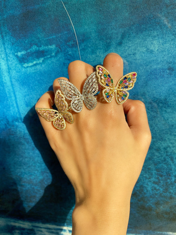 Butterfly Baguette Ring