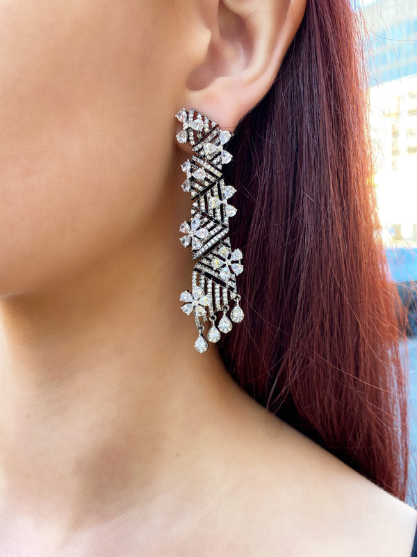 Antique Geo Triangle Earrings