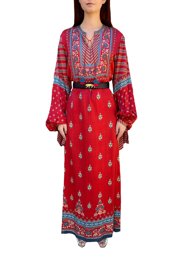 Red Floral Marrakech Kaftan