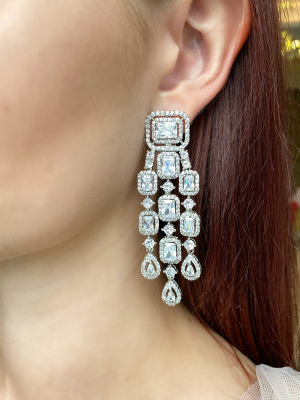Princess Halo Teardrop Earrings