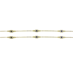 Three Pendant Evil Eye Choker Necklace