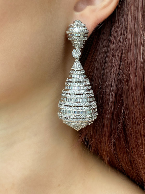 Baguette Dome Earrings
