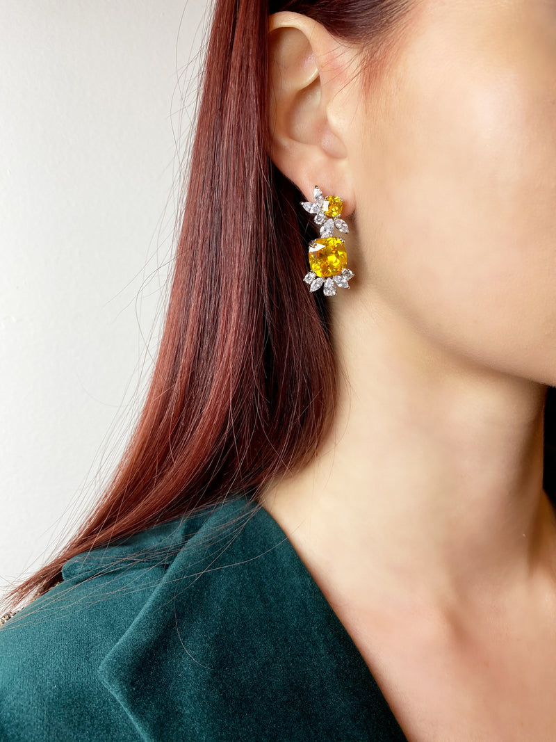 Canary Square Drop Earrings