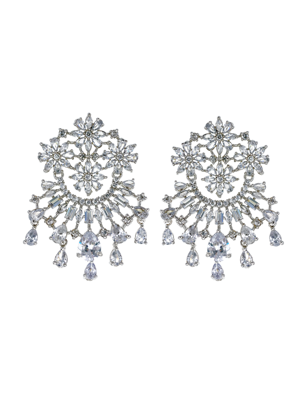 Floral Cluster Medallion Earrings