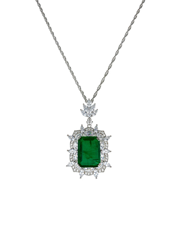 Emerald Starburst Pendant Necklace
