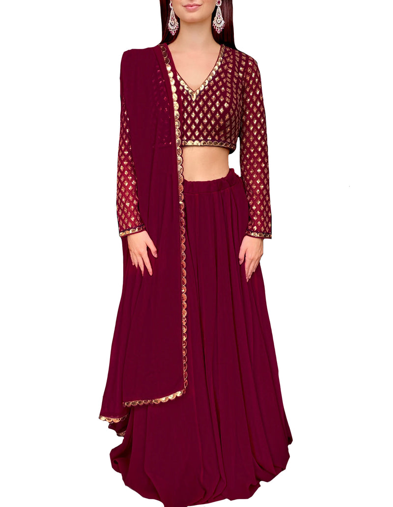 Ruby Gold Diamonds Lehnga Choli Formal