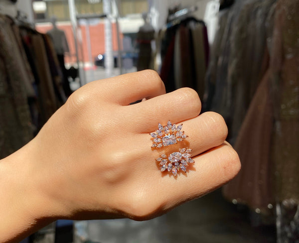 Rose Gold Double Firework Ring
