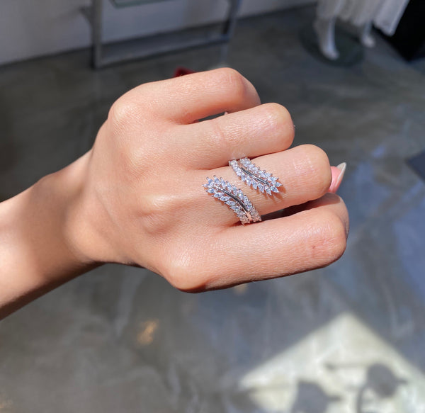 Vine Leaf Wrap 2 Way Ring