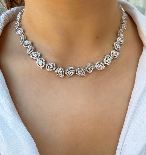 Geo Halo All Around Necklace