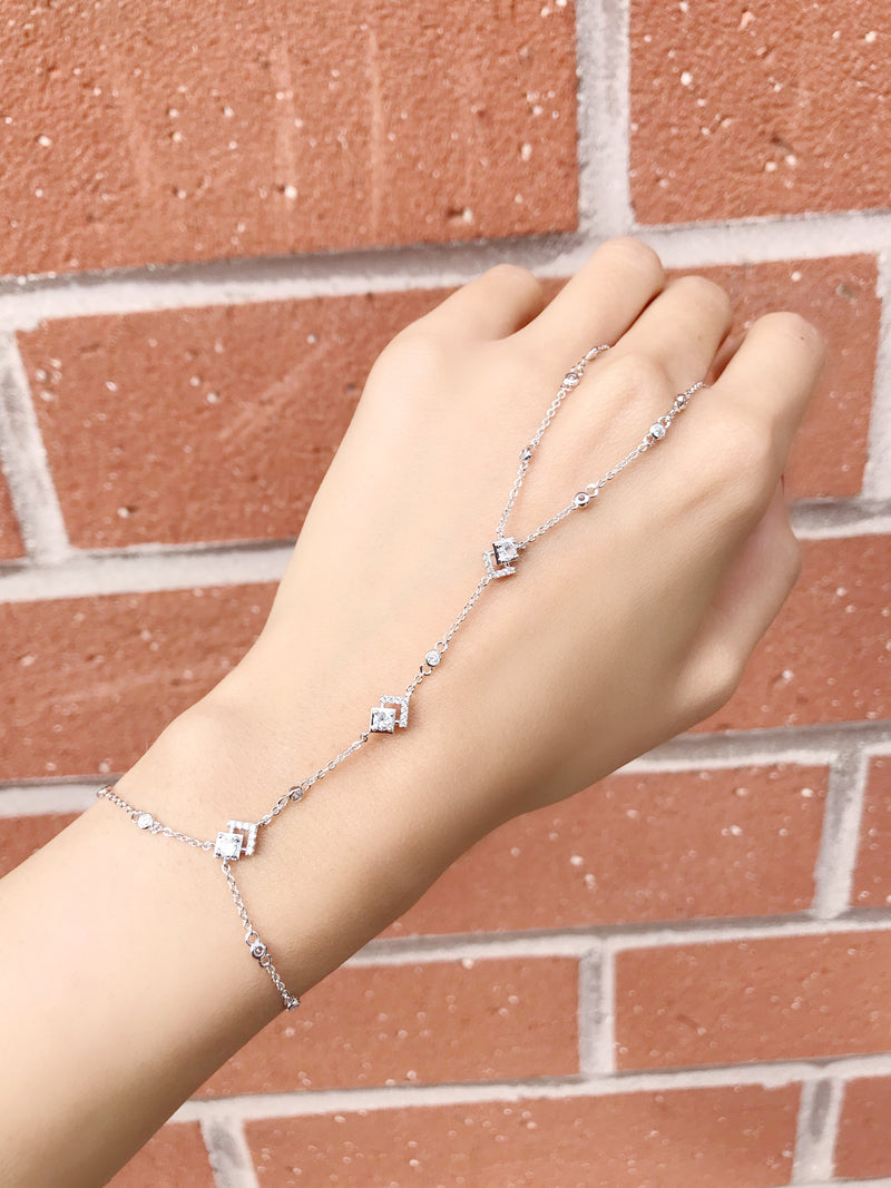 Diamond Angles Hand Chain