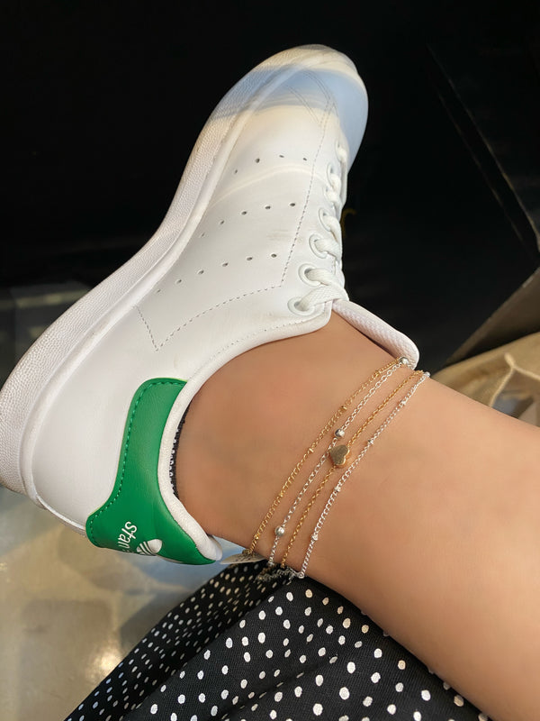 Floating Heart Anklet