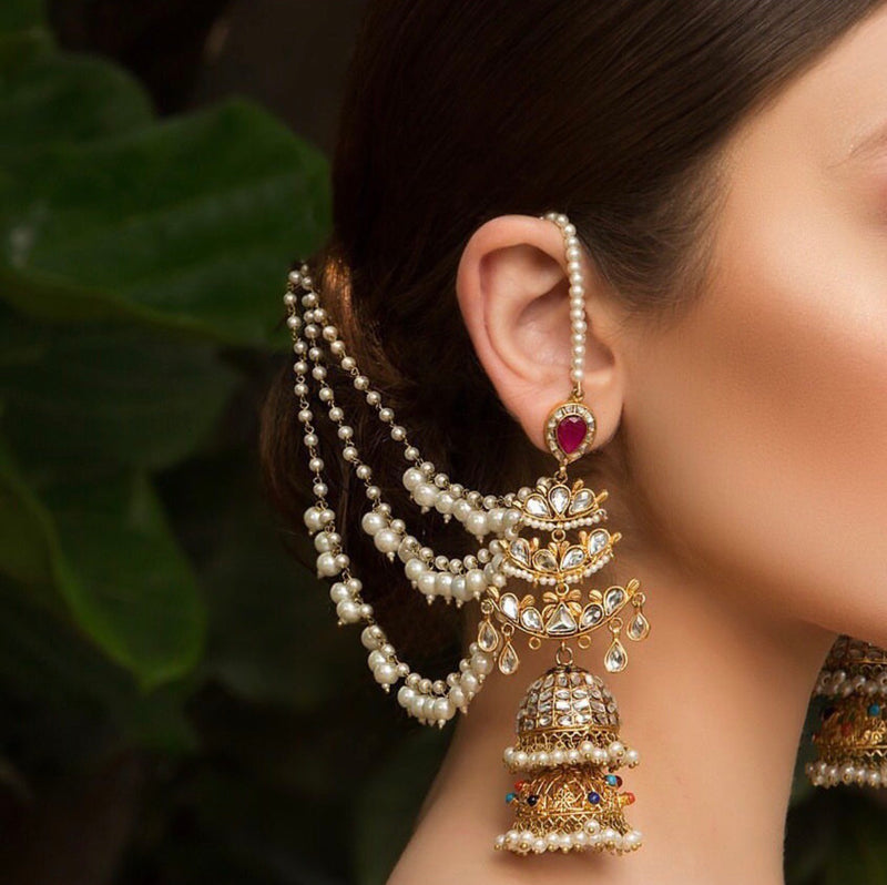 Jhumka Pearl Sahara Earrings