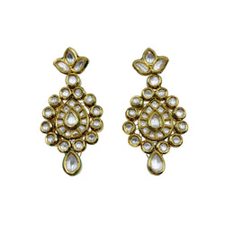 Kundan Fleur Teardrop Earrings
