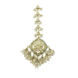 Kundan Pearl Large Tikka Headpiece