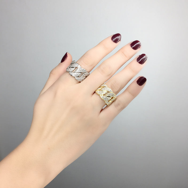 Pave Chain Ring