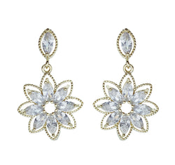 Petite Flower Marquis Earrings