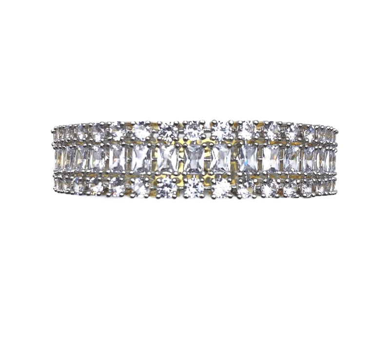 Princess Cut Diamondesque Bangle