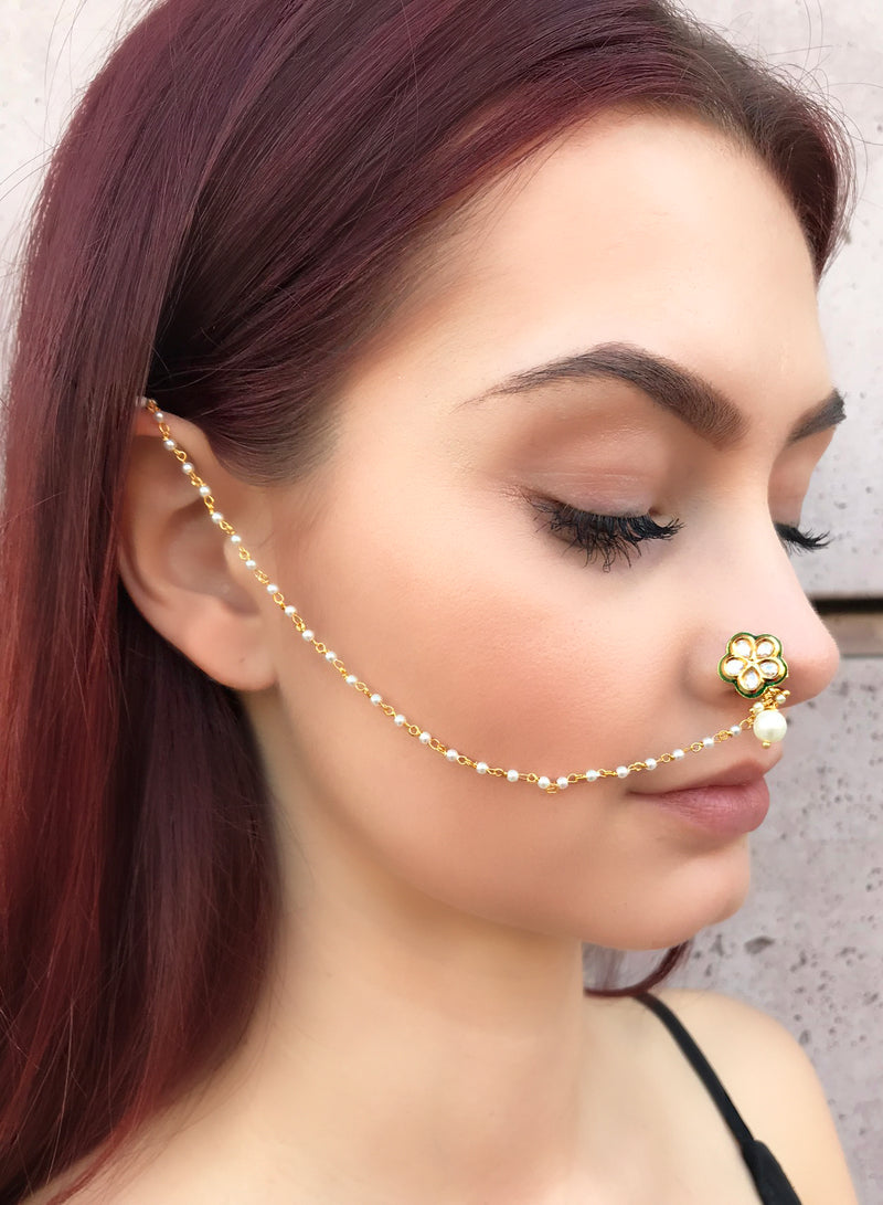 Clip On Dainty Flower Nath Nose Ring