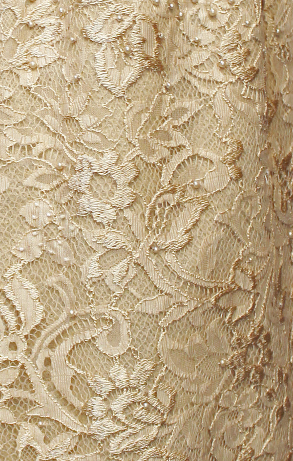 Cream Beaded Lace Pashmina Shawl
