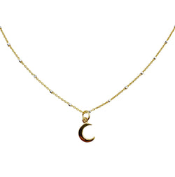 Crescent Moon Dainty Choker Necklace