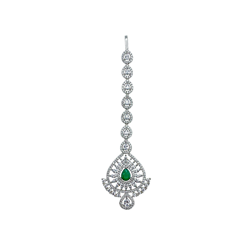 Emerald Double Teardrop Tikka Headpiece