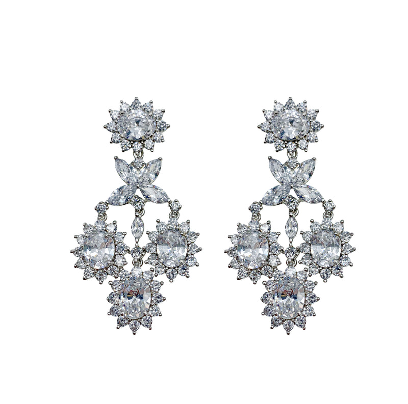 Diana Flower Halo Earrings