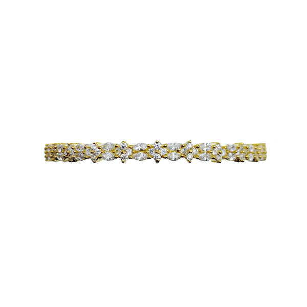 Dainty Flower Diamondesque Bangle