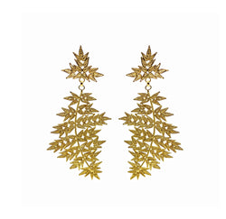 Gold Leafy Arrow Earrings