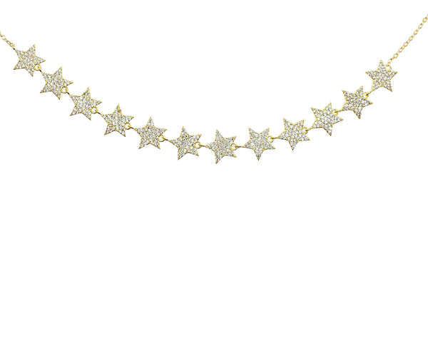 Gold Stars Choker Necklace