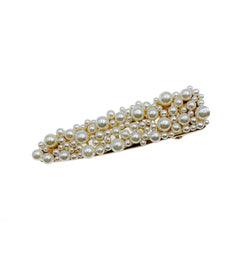 Long Pearl Cluster Triangle Hair Clip