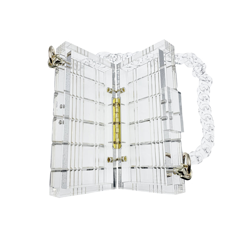 Clear Acrylic Chain Clutch