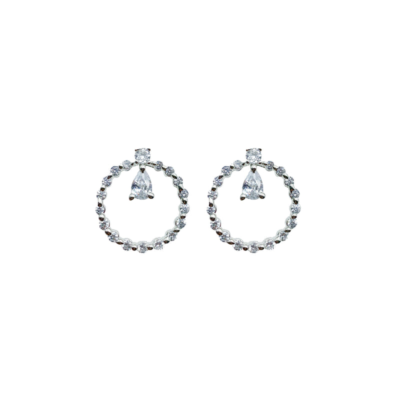 Petite Teardrop Circle Earrings
