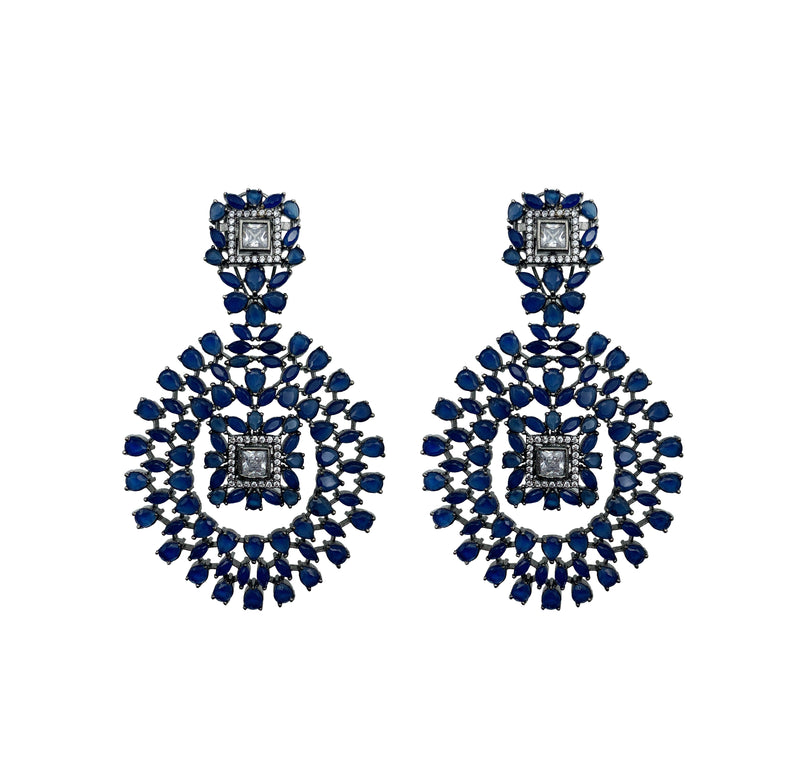 Sapphire Statement Chandelier Earrings