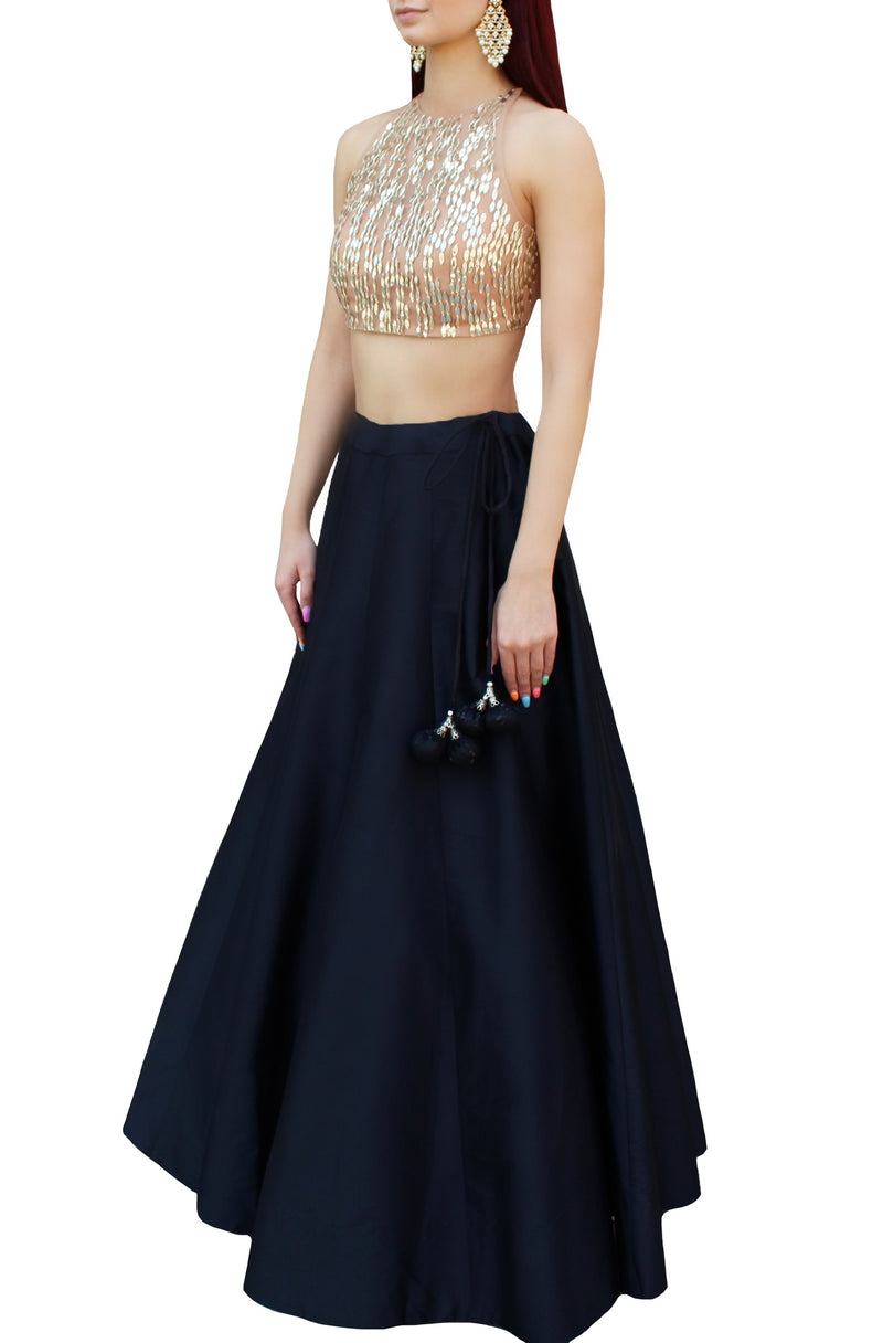 Black Lehnga Skirt