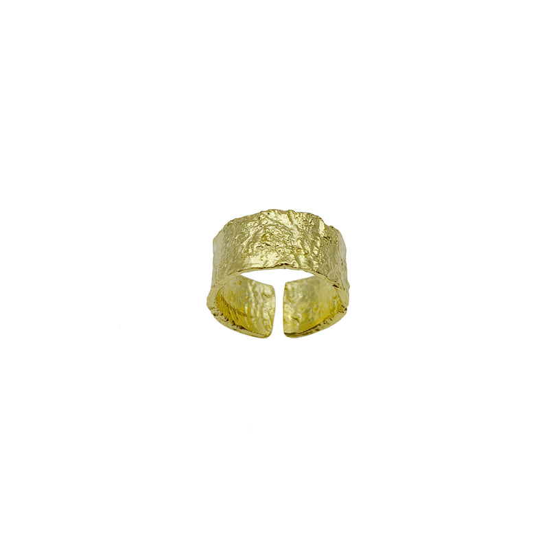 Gold Textured Ring