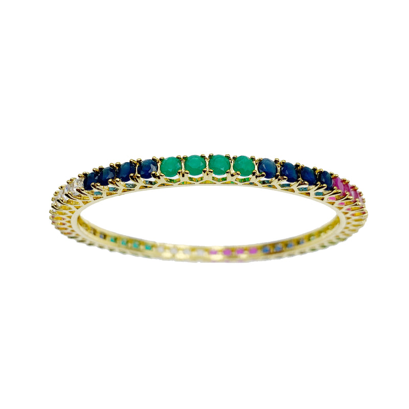 Multi Colored Solitaire Bangles