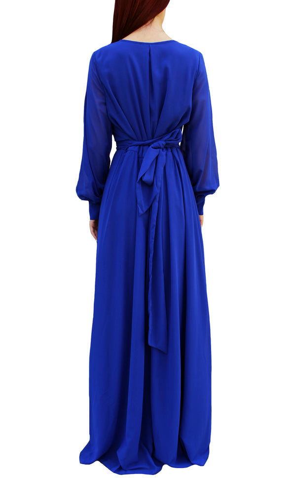 Pure Cobalt Blue Luxe Maxi Dress