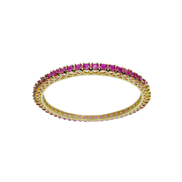 Ruby Solitaire Bangles