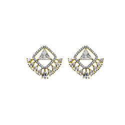 Triangle Teardrop Stud Earrings