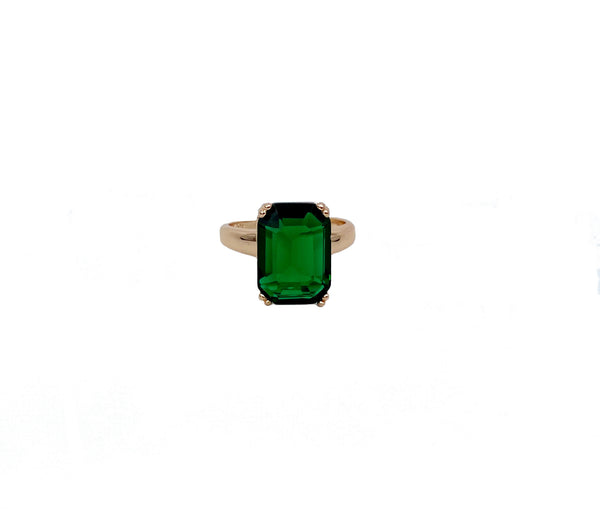 Bold Emerald Gold Ring