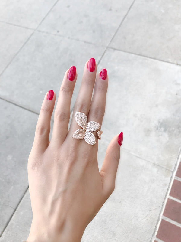Pave Flower Ring