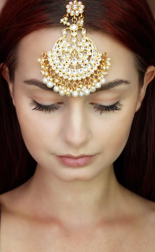 Gold Kundan Headpiece