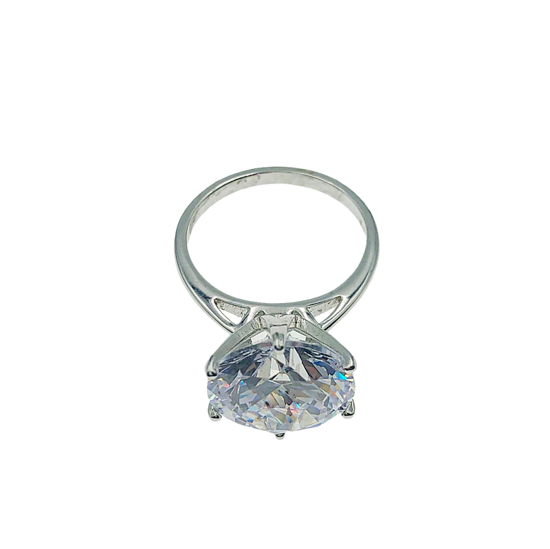 Platinum Plated Tiffany Style Solitaire Ring