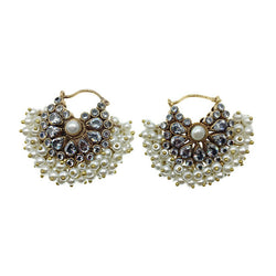 Petite Pearl Chandbali Earrings